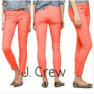 J. CREW MATCHSTICK JEANS IN CORAL, SIZE 26